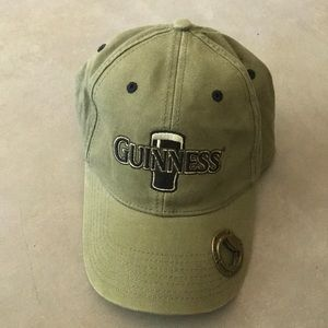 Rare Guinness Green Bottle Opener Cap Baseball Hat
